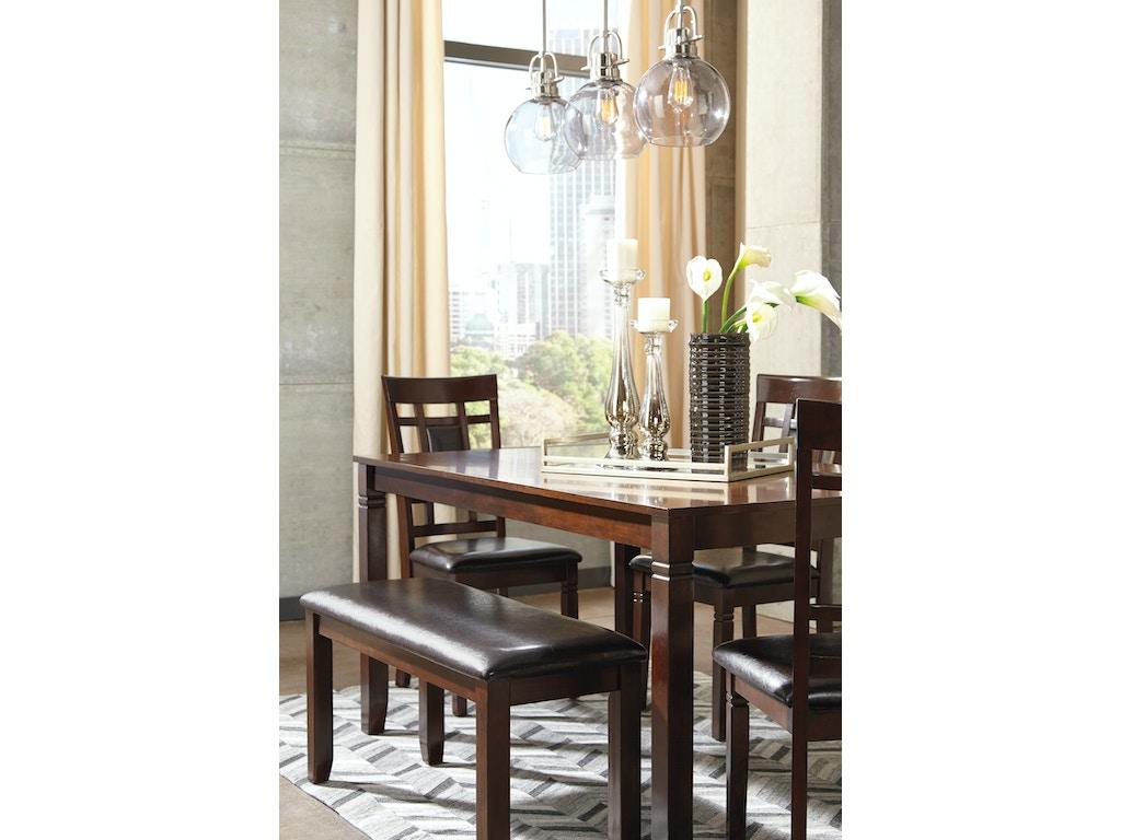 Bennox Brown 6 Piece Rectangular Dining Room Sett: 4 chairs, 1 ...