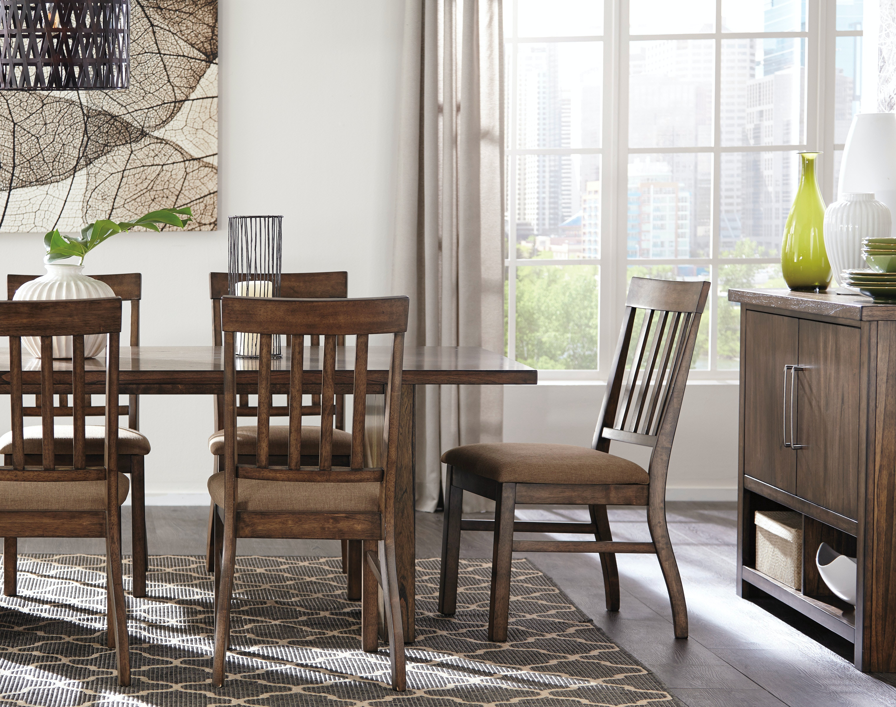 Ashley Zilmer 7pc Dining Room Set D448 Tbl/6 Chairs