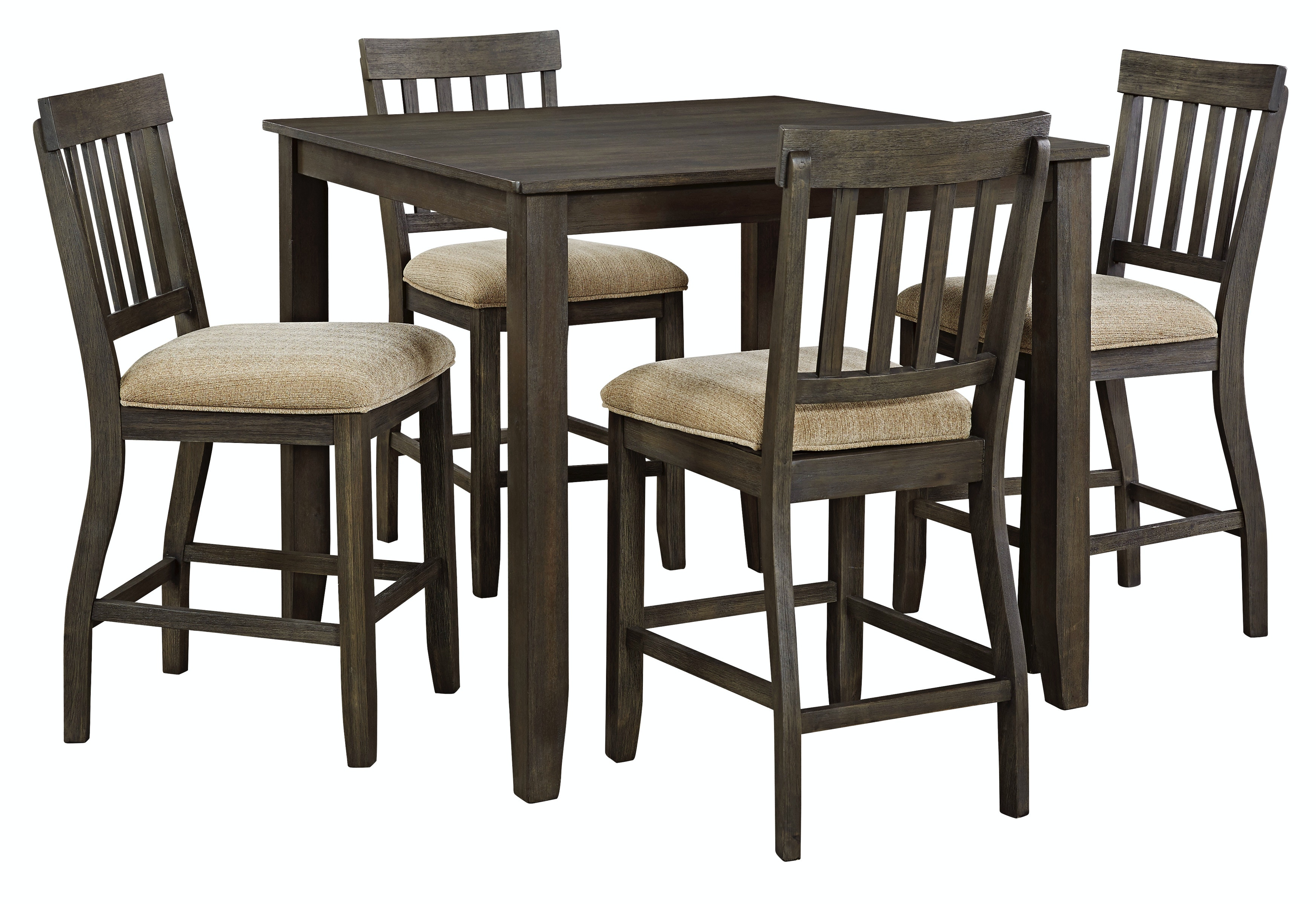 D485 Counter Tbl/4 Chairs. Dresbar 5pc Counter Dining Room Set