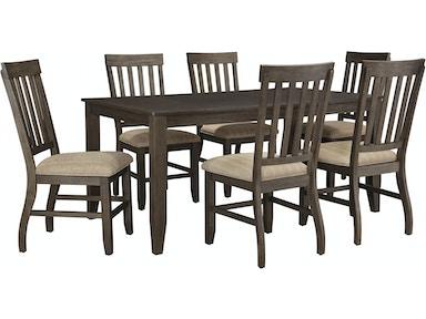 Ashley Dresbar 7pc Pub Dining Room Set D485 Tbl 6 Chairs