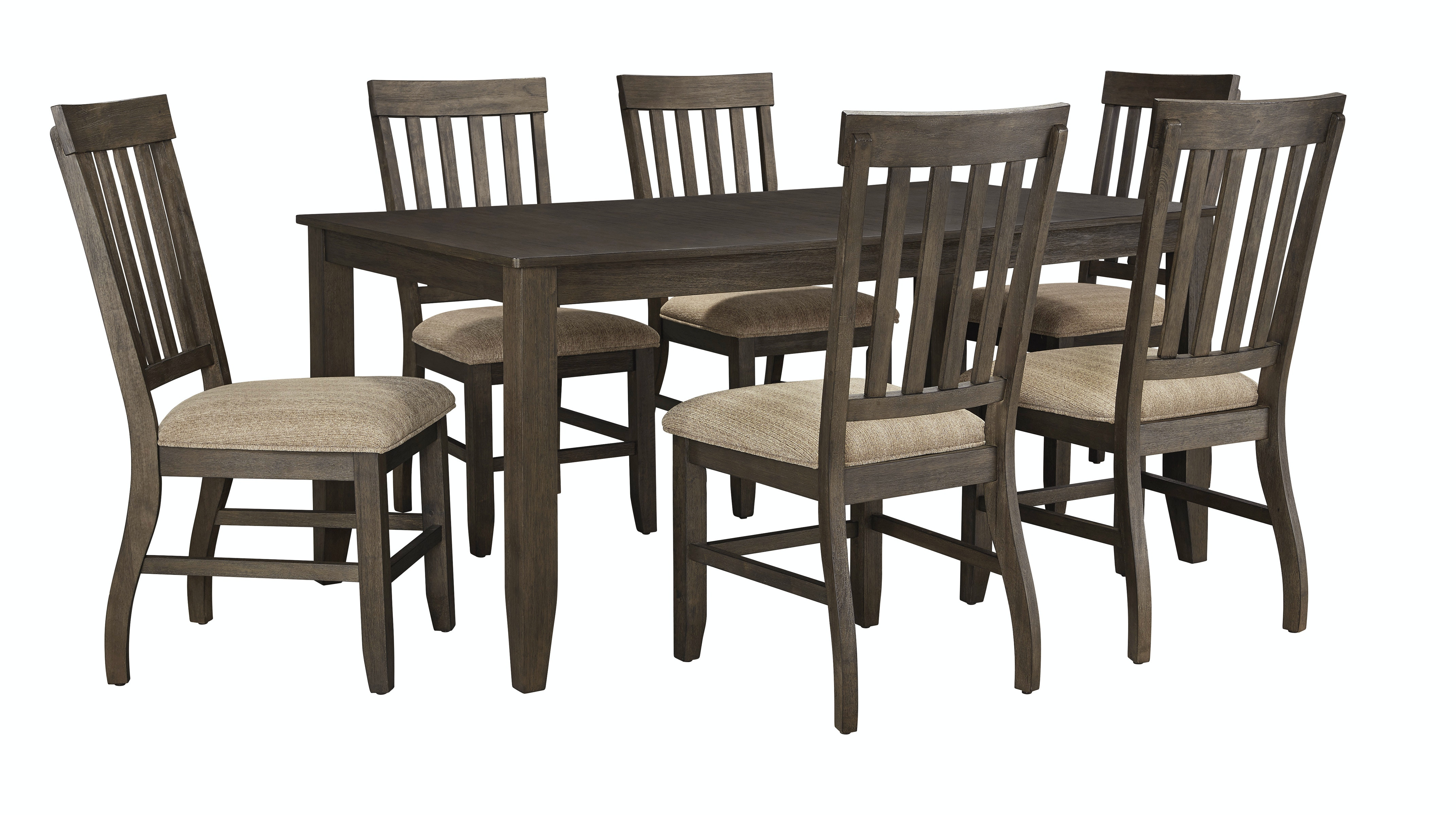 Marvelous Ashley Dresbar 7pc Pub Dining Room Set D485 Tbl/6 Chairs