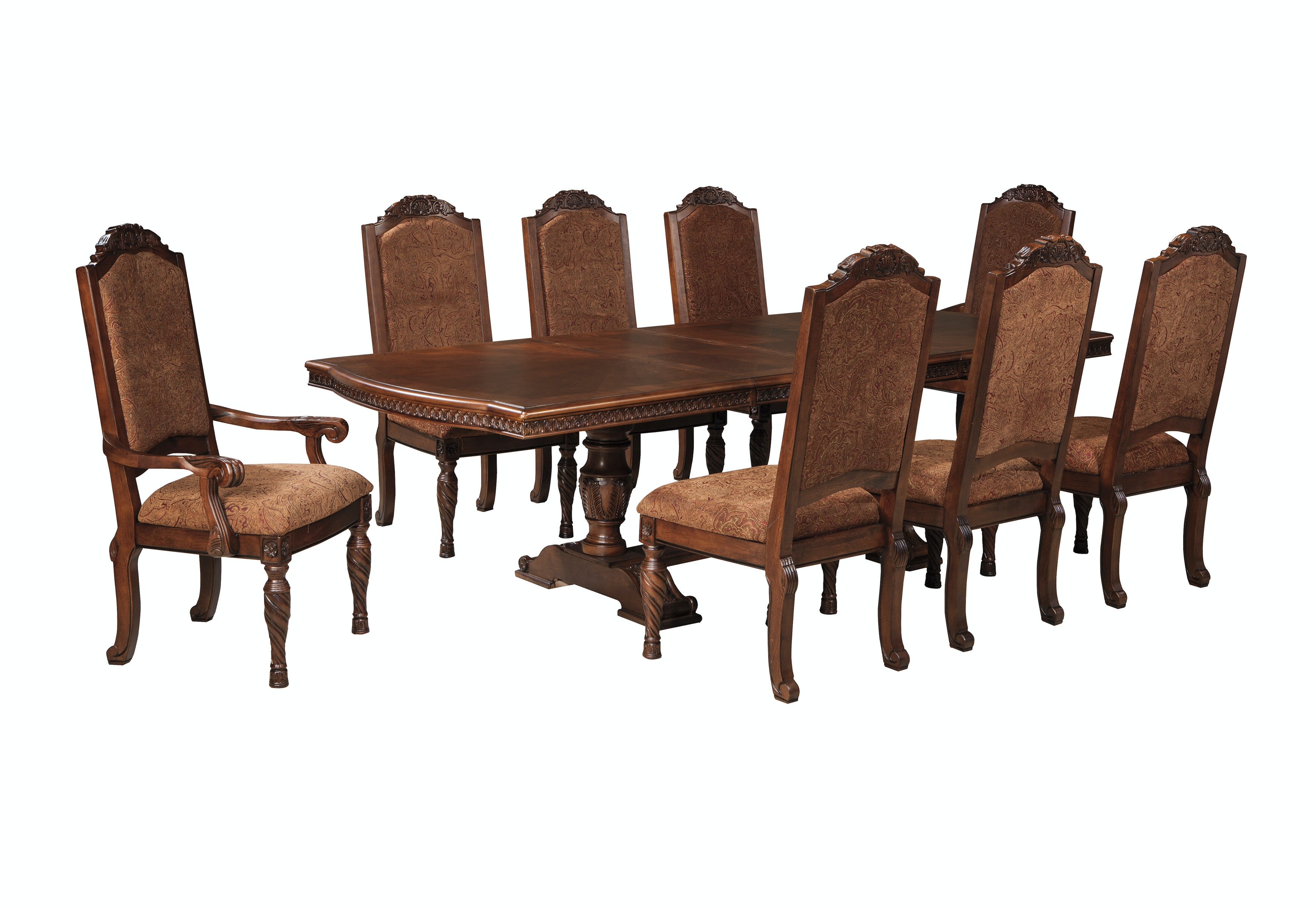 Ashley North Shore Dining Room Set 7pc D553 55/02x6
