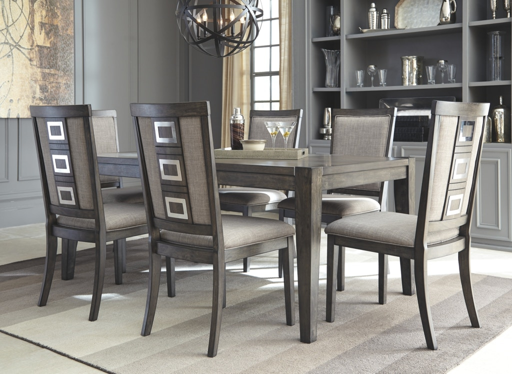 Chadoni 7 Piece Rectangular Extension Dining Room Set: 6 chairs ...