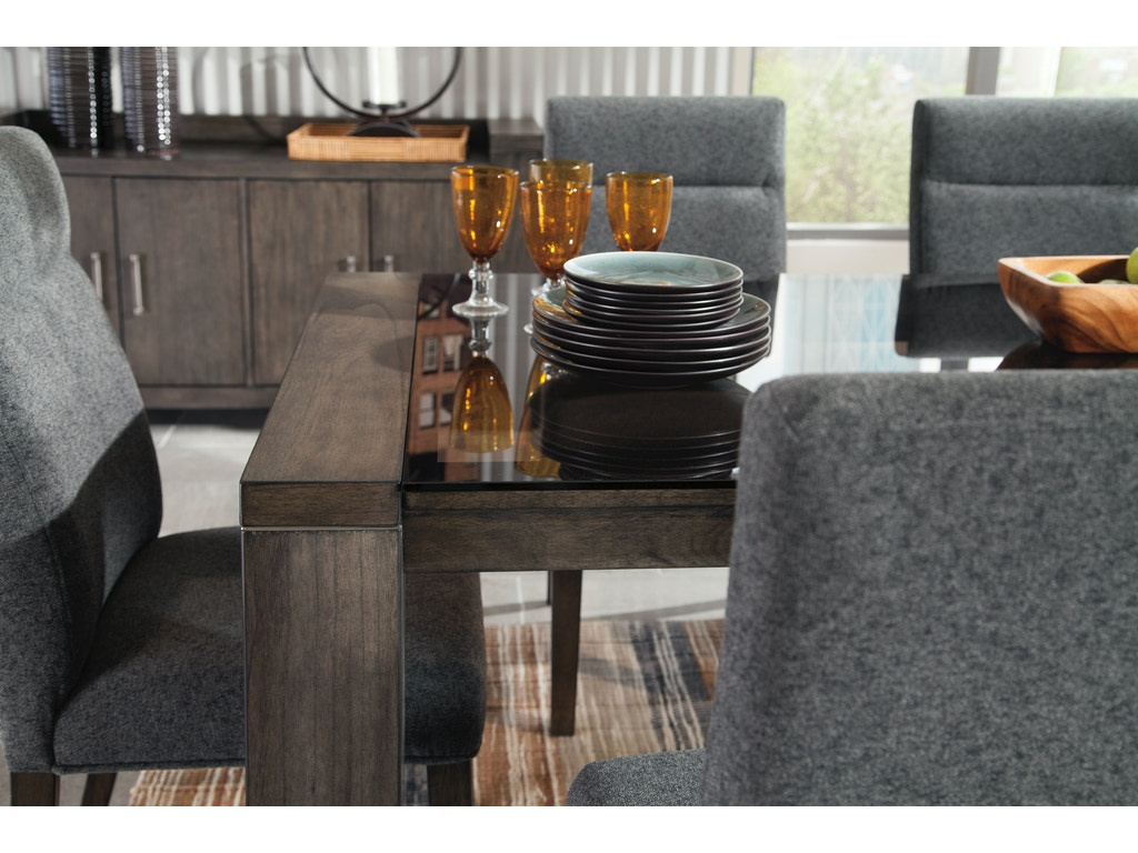 Ashley Chansey 7pc Dining Room Set D667