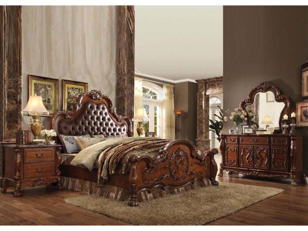 Acme Dresden Cherry Oak 5pc Bedroom Set King 23137ek 12145 12144