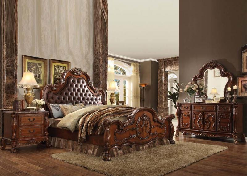 Acme Dresden Cherry Oak 5pc Bedroom Set (King) 23137EK/12145/12144