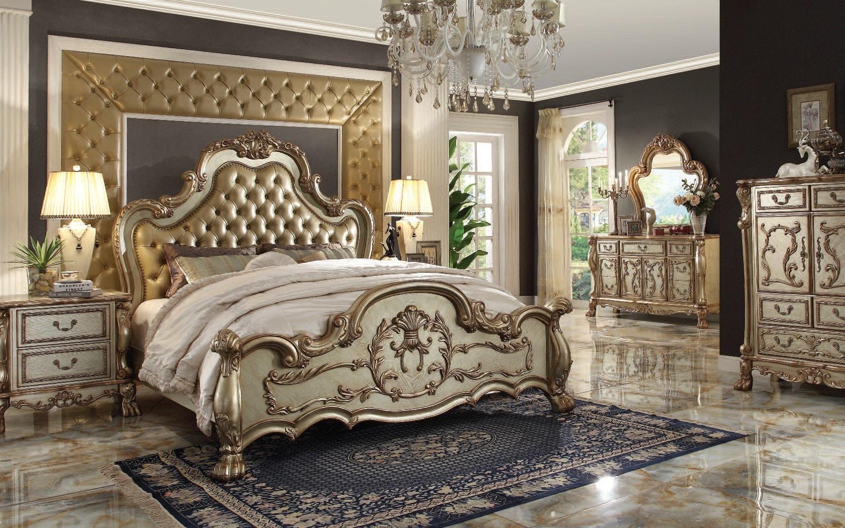 23157/23165/23164. Dresden Gold Patina 5pc Bedroom Set