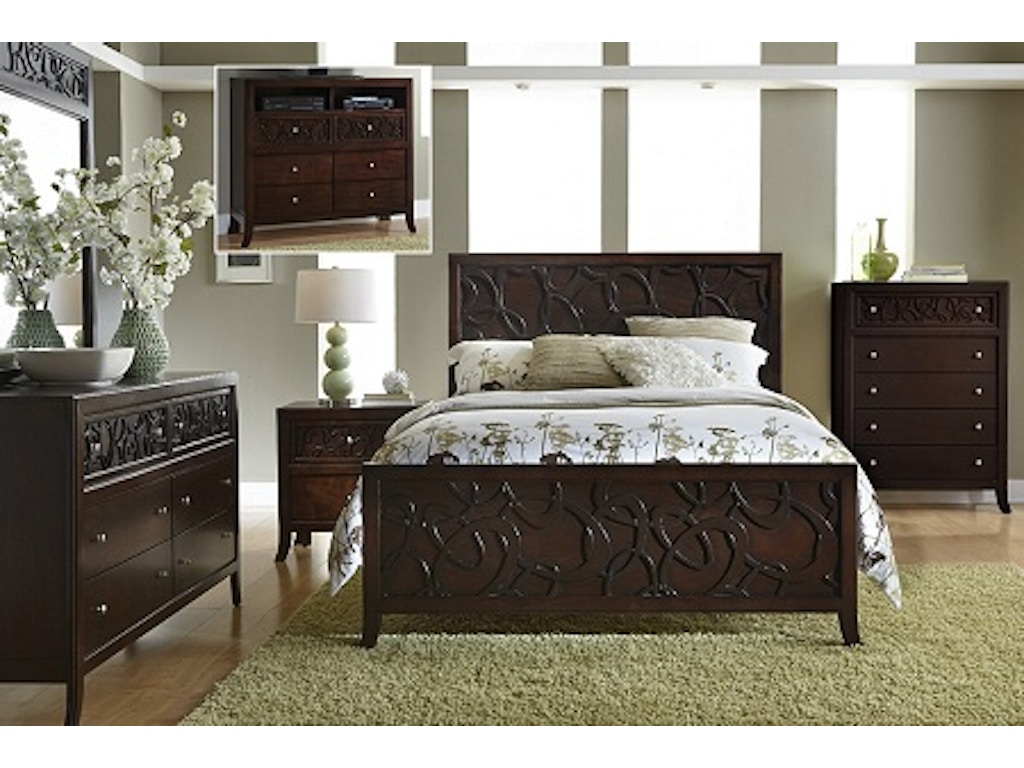 Links 5pc Panel Bedroom Set Headboard Footboard Rails