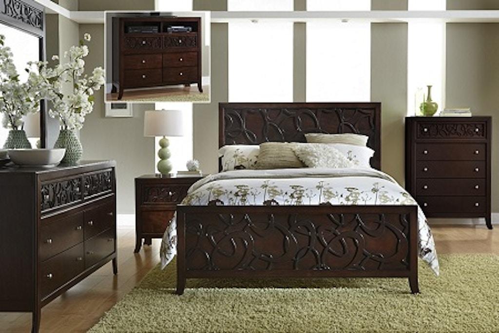 Links 5pc Panel Bedroom Set: Headboard, Footboard, Rails, Dresser ...
