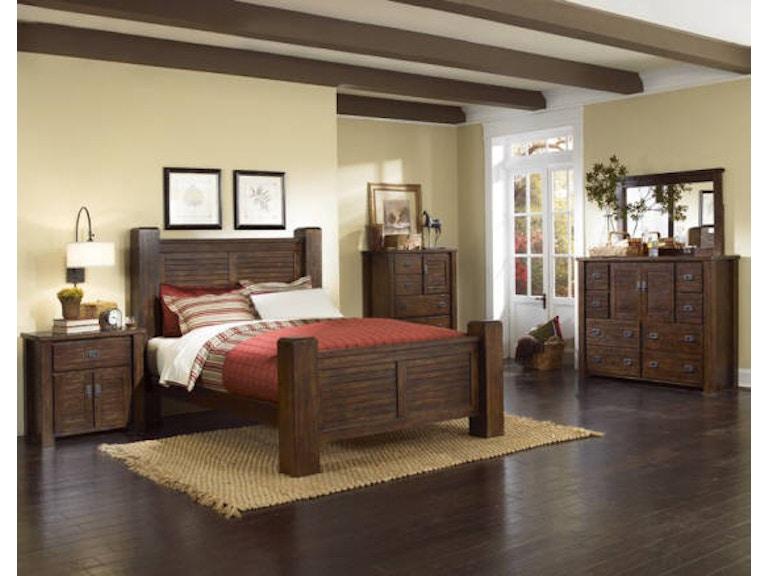 Trestlewood Pc Poster Bedroom Set Headboard Footboard Rails - Progressive furniture bedroom sets