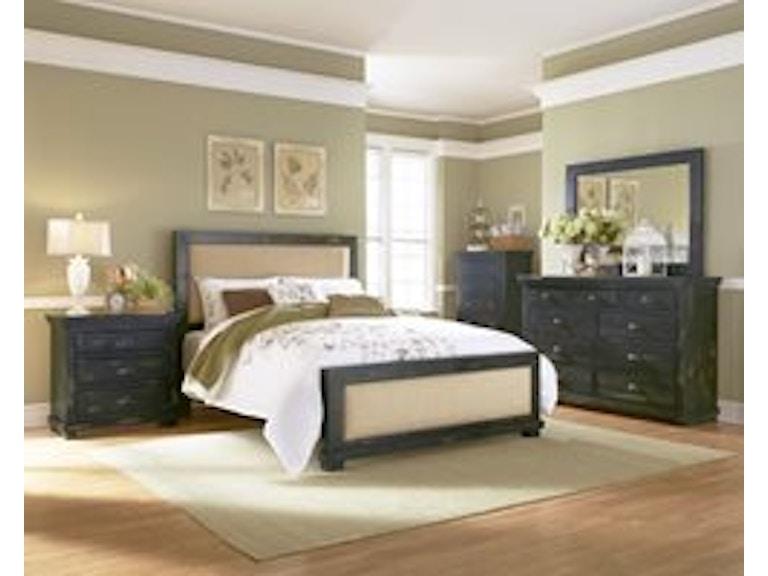 Progressive Furniture Willow Distressed Black 5pc Set P612