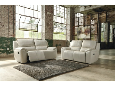 Ashley VALETON RECLINING SOFA & LOVE (LEATHER) U73500 SET