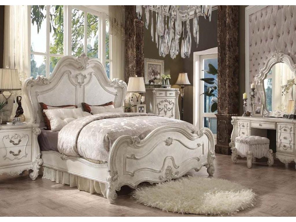 Versailles Bone White 5pc Bedroom Set