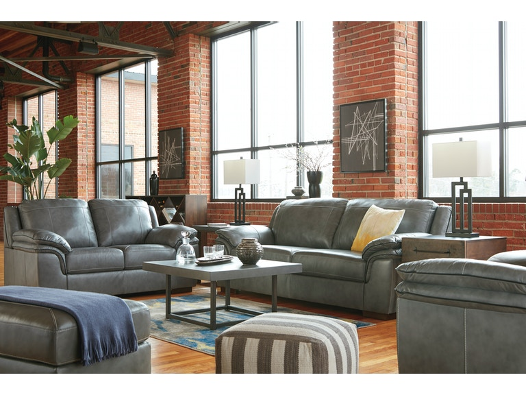 signature design by ashley 3pc islebrook leather living room 100