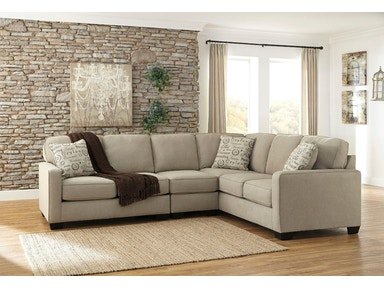 Alenya 3pc Left Loveseat Sectional with Armless Chair