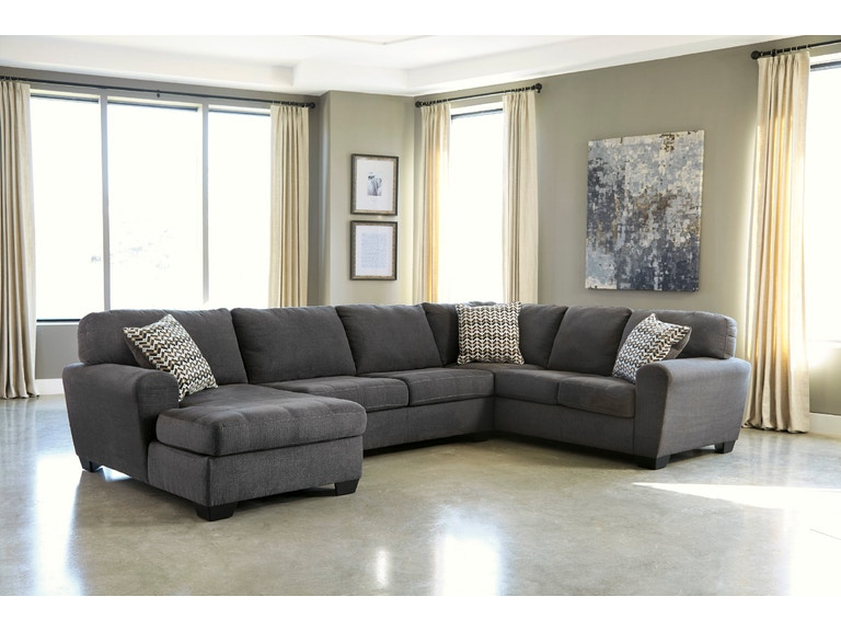 Signature Design By Ashley 4pc Right Sofa Sectional With Ottoman 28600 16 34