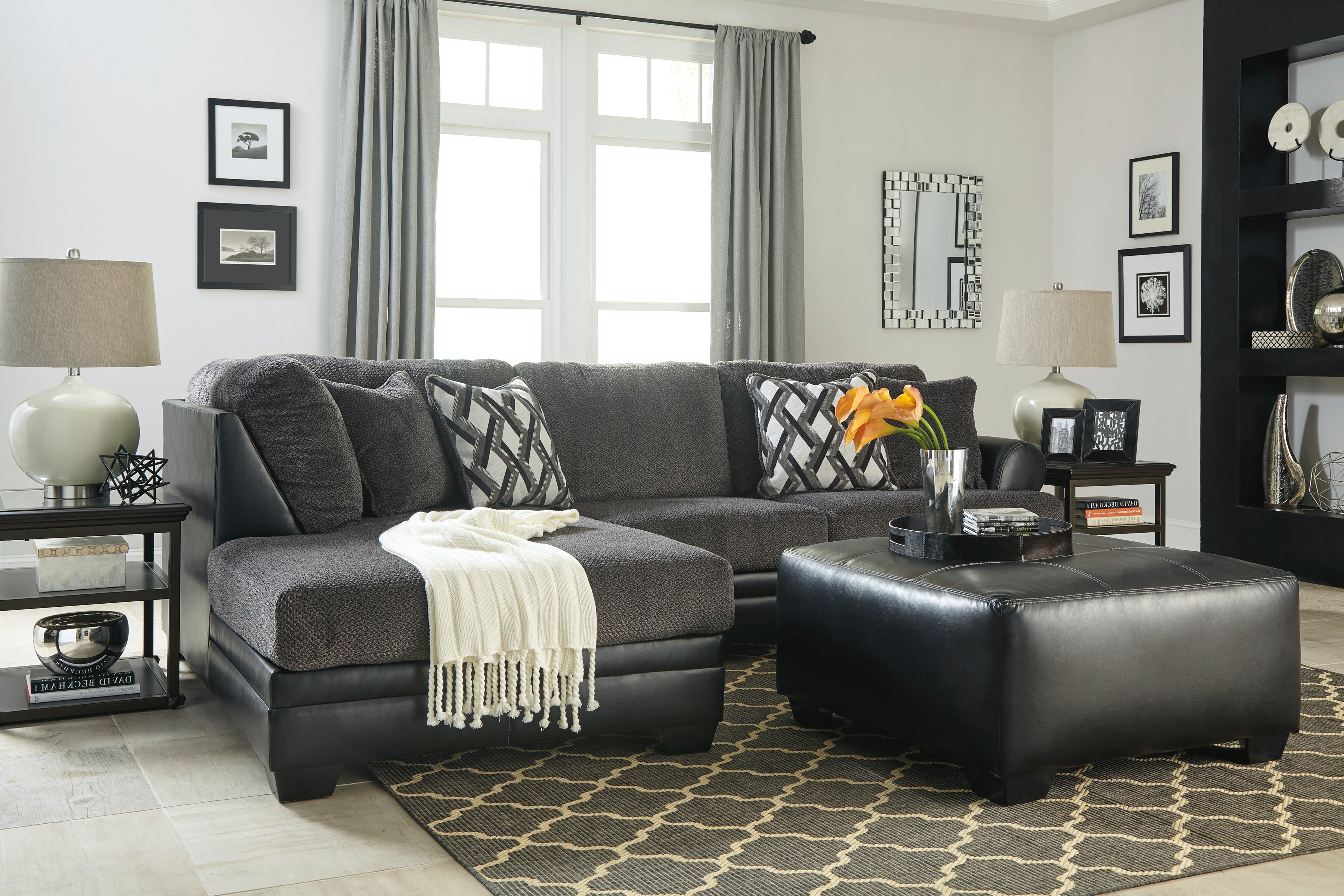 Signature Design by Ashley 2pc Left Chaise Sectional 32202-16/67 : left chaise sectional - Sectionals, Sofas & Couches