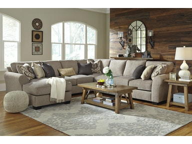 5pc Left Chaise Sectional with Wedge