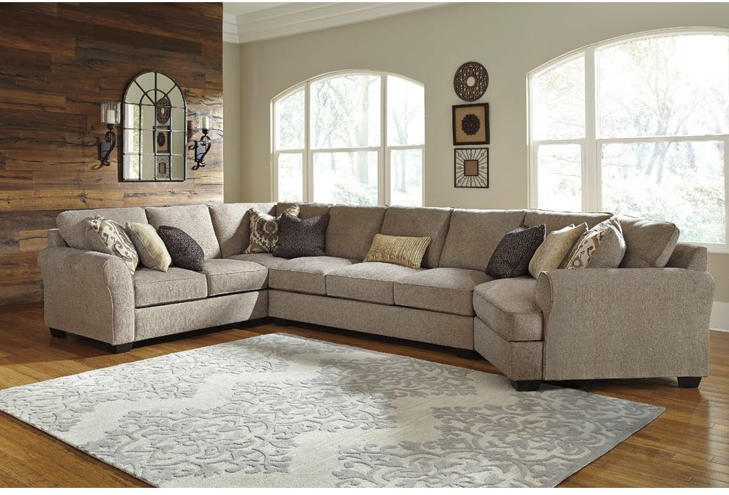 ashley with picture k en raf of cuddler pantomine sectional