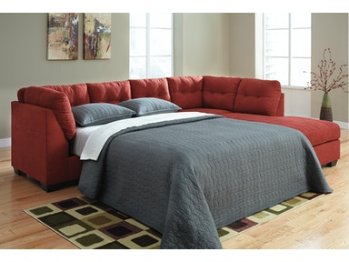 2pc Left Sleeper Sectional