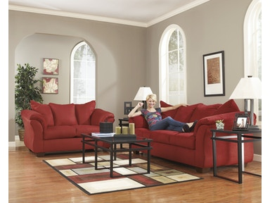 7pc Darcy Living Room package in 6 colors