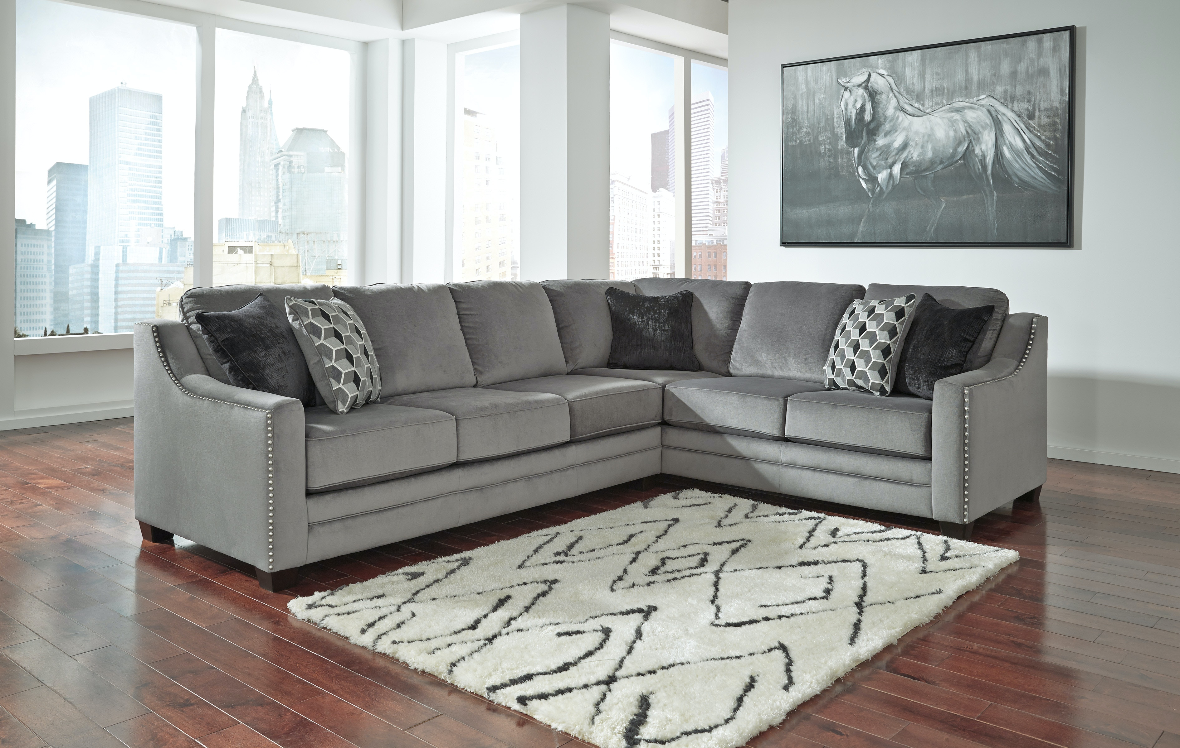 Signature Design By Ashley Living Room Left Sofa Sectional  ~ Ashley Laf Sofa Sectional