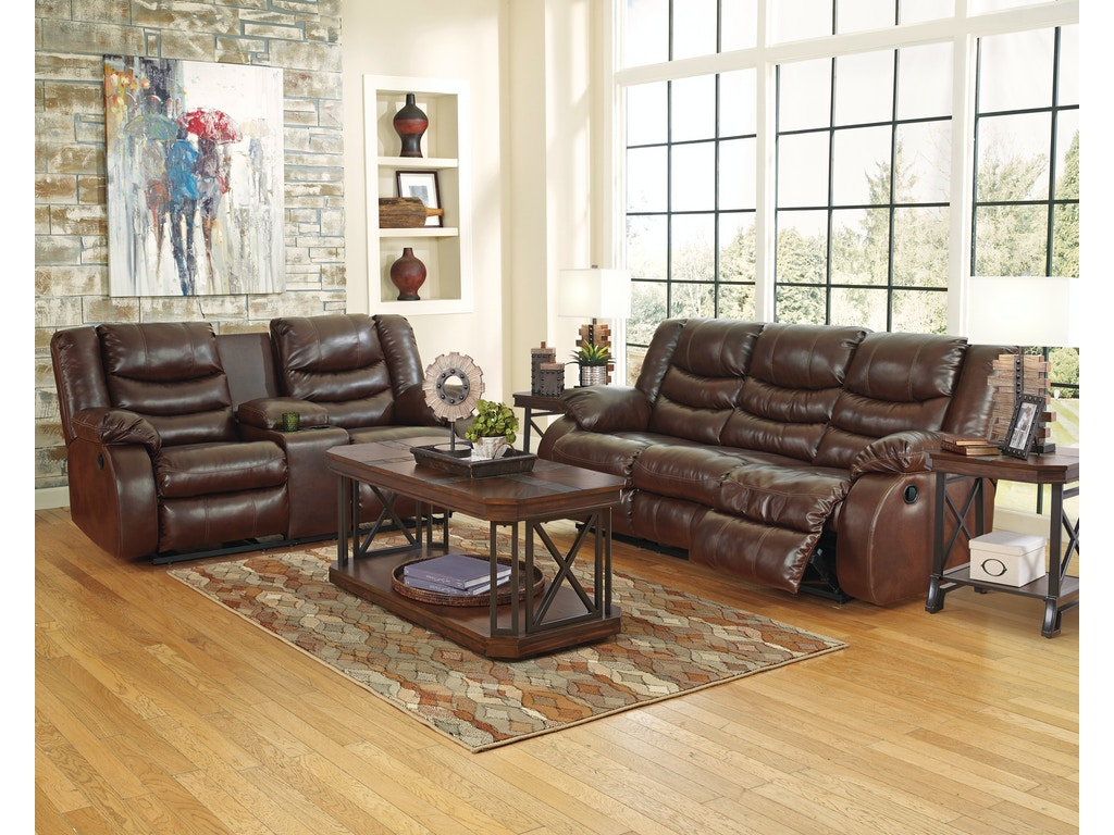 Signature Design By Ashley Living Room 3pc Linebacker Motion Faux Leather Set Includes Reclining