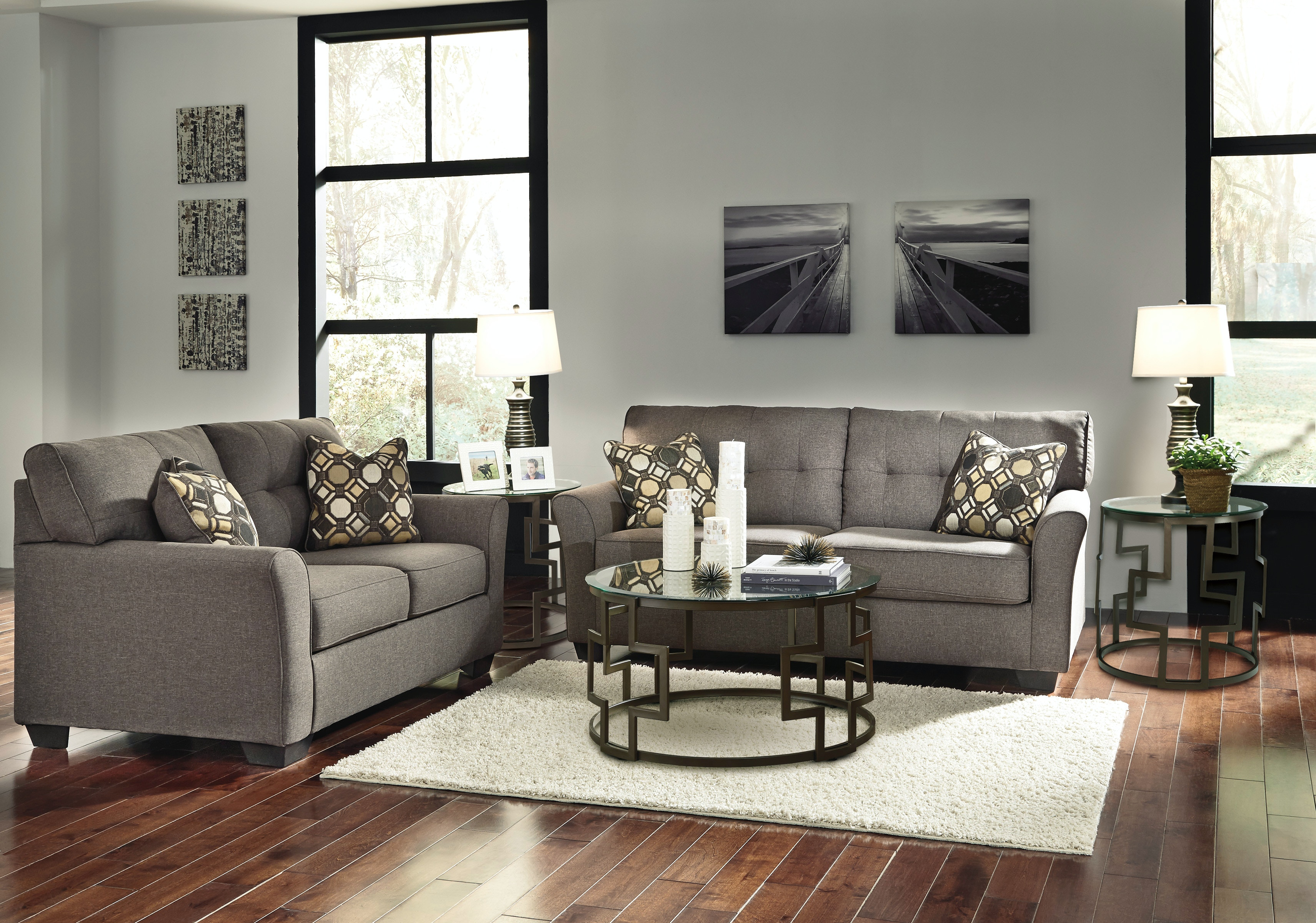 Signature Design By Ashley 5pc Tibbee Tailored Living Room Group Includes  Sofa, Loveseat, 3pc
