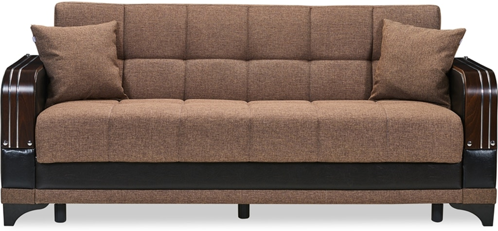 Casamode Full Size Sofa Sleeper Klik Klak W Storage Almira Brown Fsp