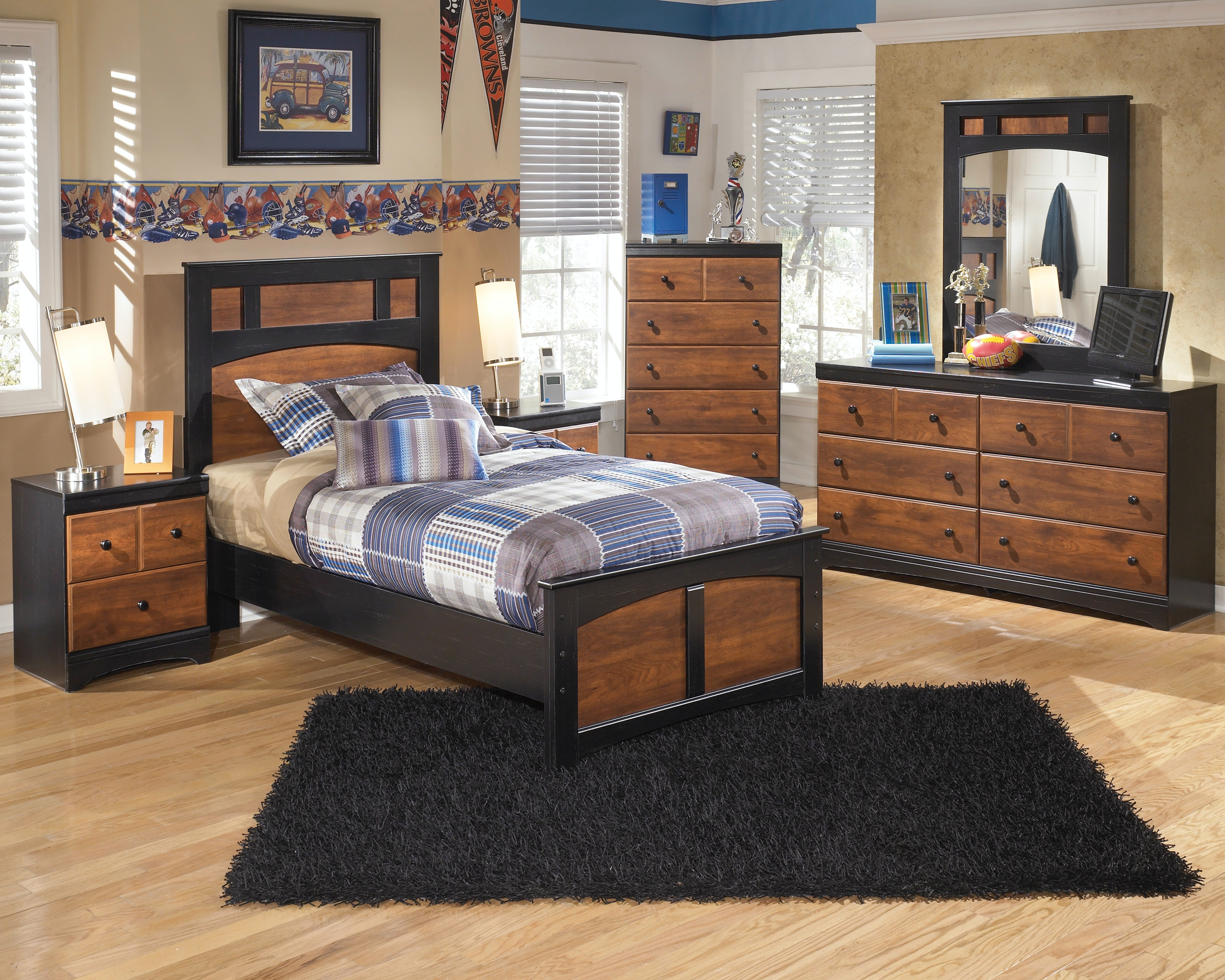 6pc Aimwell Twin Bedroom Set With Innerspring Mattress!