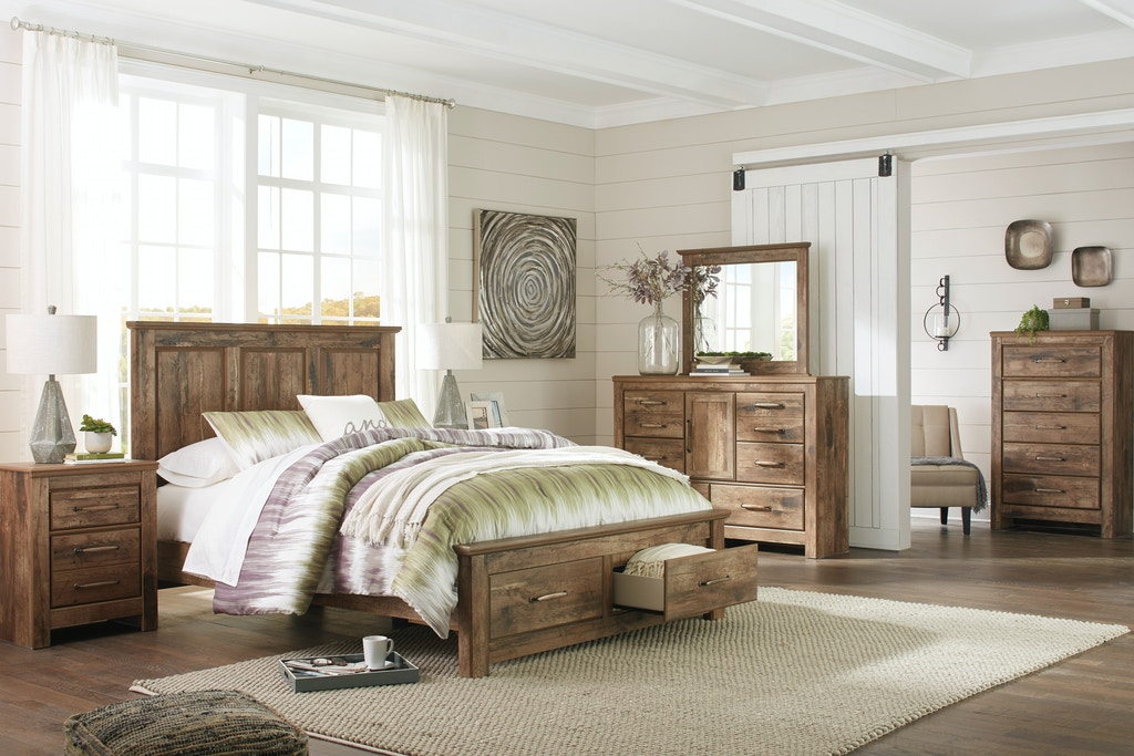 Signature Design by Ashley 7pc Blanesville Queen Bedroom Set w ...