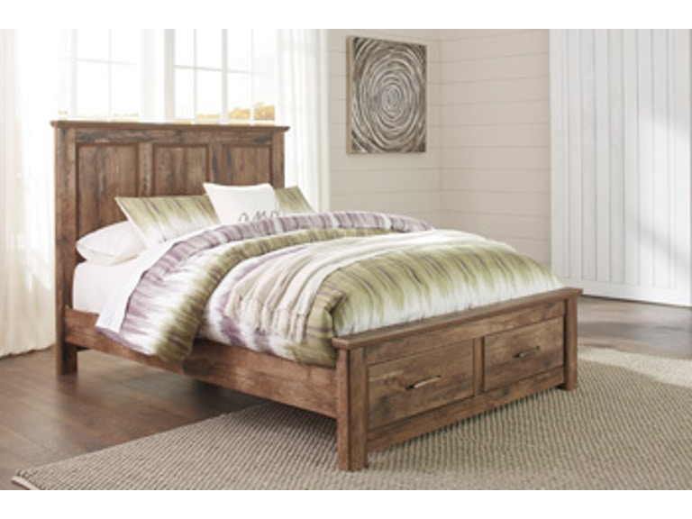 Signature design by ashley bedroom queen size blaneville for Big w bedroom storage