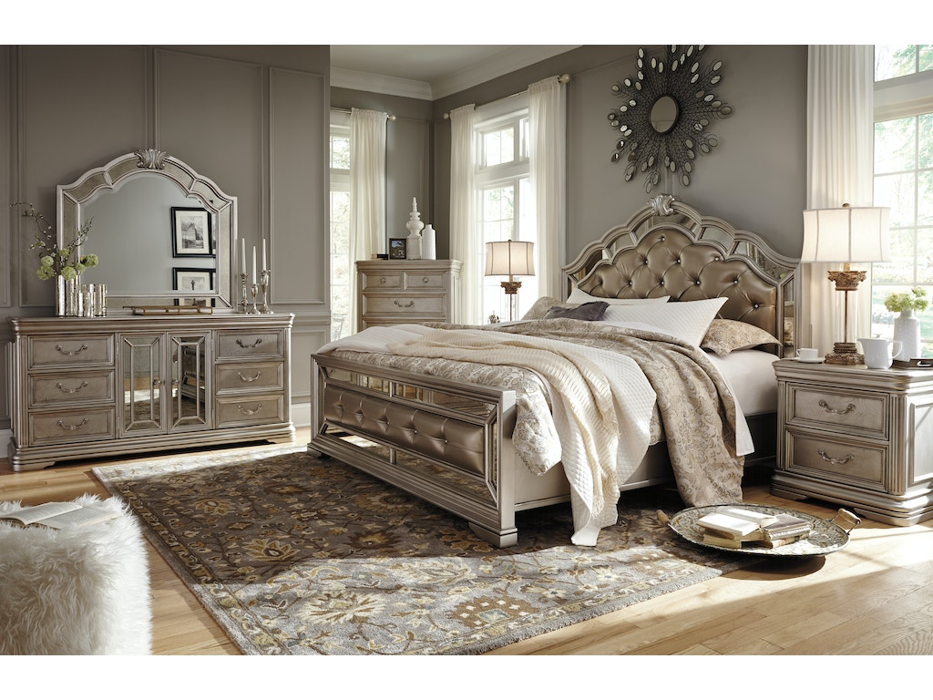 Signature Design By Ashley 5pc Dazzling Queen Bedroom Fulton Stores Brooklyn Ny