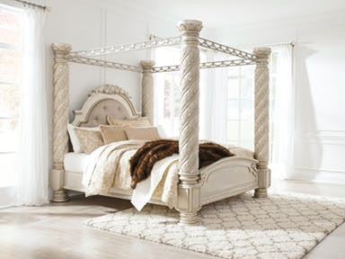 Signature Design by Ashley King Size Cassimore Poster Canopy Bed B750-50/51/ & Signature Design by Ashley Bedroom King Size Cassimore Poster ...