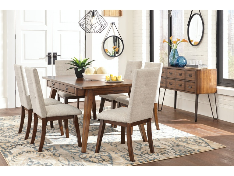 Signature Design by Ashley Dining Room 7Pc Centiar Modern ...