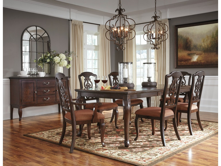 Signature Design By Ashley 7pc Gladdenville Traditional Dining Room D578 35 01x4 01ax2
