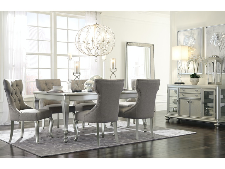 D313 Modern Dining Room Set In White Lacquer Finish: Signature Design By Ashley Dining Room Coralayne Dining