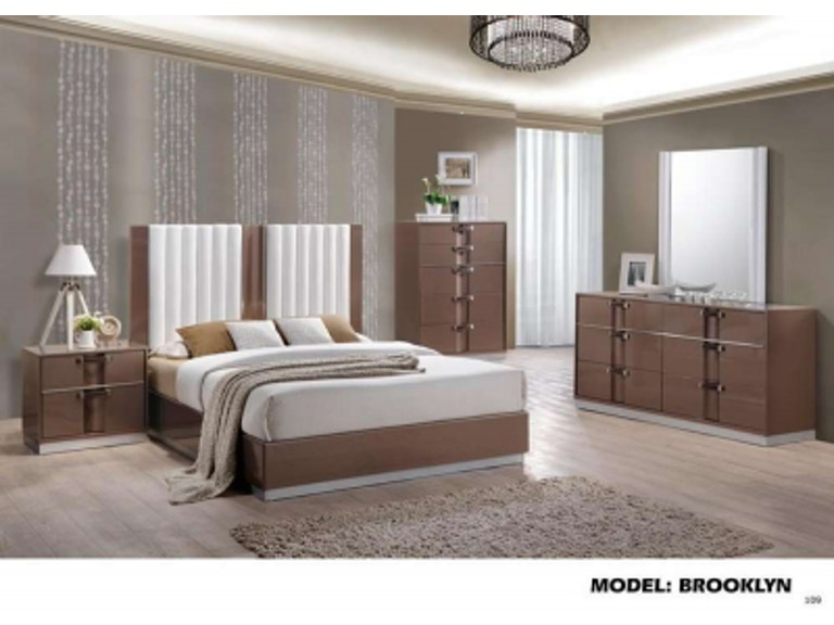 Global Furniture USA Bedroom Brown lacquer finish chest - Fulton ...