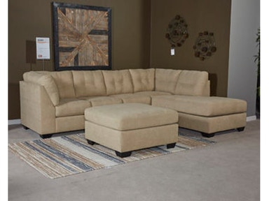 3pc Left Chaise Sectional with Ottoman