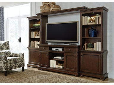 4pc Porter Wood Wall unit w/fireplace option.