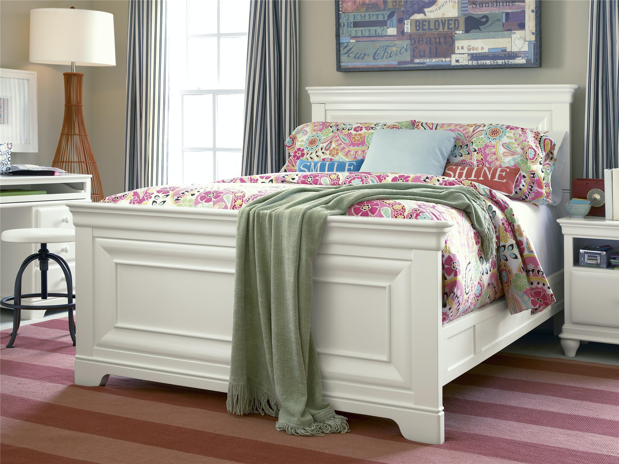 Delightful Smartstuff By Universal Classics 4.0 Summer White Kids Bedroom Collection,  SEE MORE PIECES BELOW.