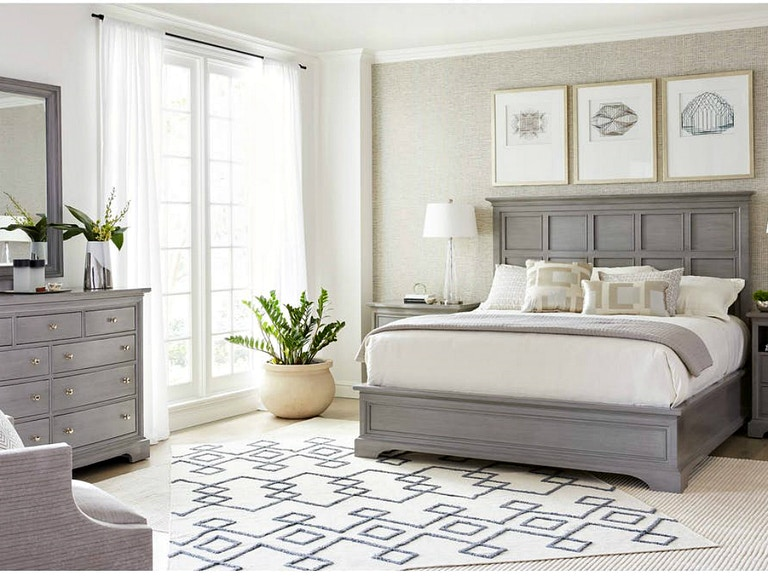 Stanley Furnaiture Transitional Bedroom Set In Estonian Grey
