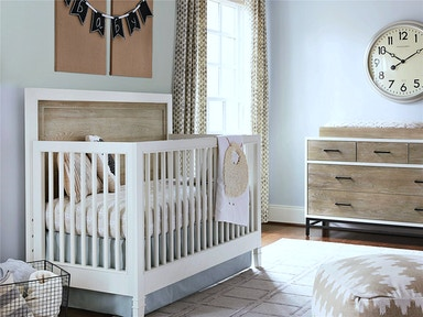 Smartstuff by Universal #myRoom Gray & Parchment Kids Bedroom Collection, SEE MORE PIECES BELOW. #myRoom Gray & Parchment Convertible Crib