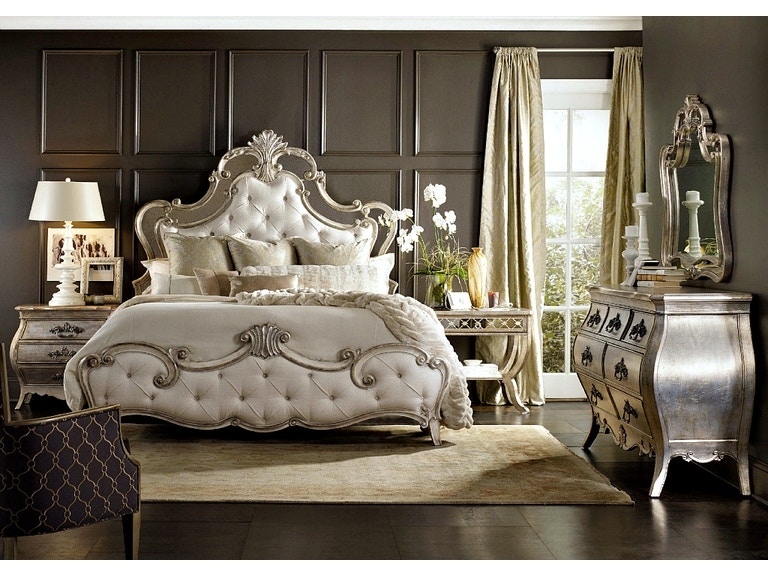 Hooker Furniture Sanctuary Bedroom Set With Upholstered Bed