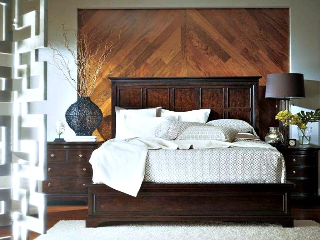 Stanley Furniture Transitional Bedroom Set In Polished Sable