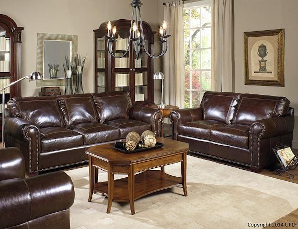 Living Room Pecan With Alligator Sofa 2123800 Swann S