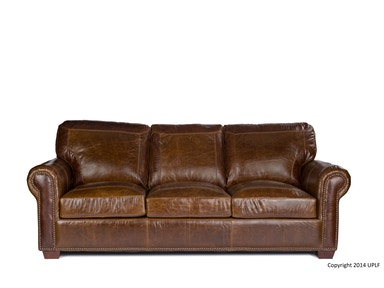 USA Premium Leather Pecan with Alligator Sofa 2123800