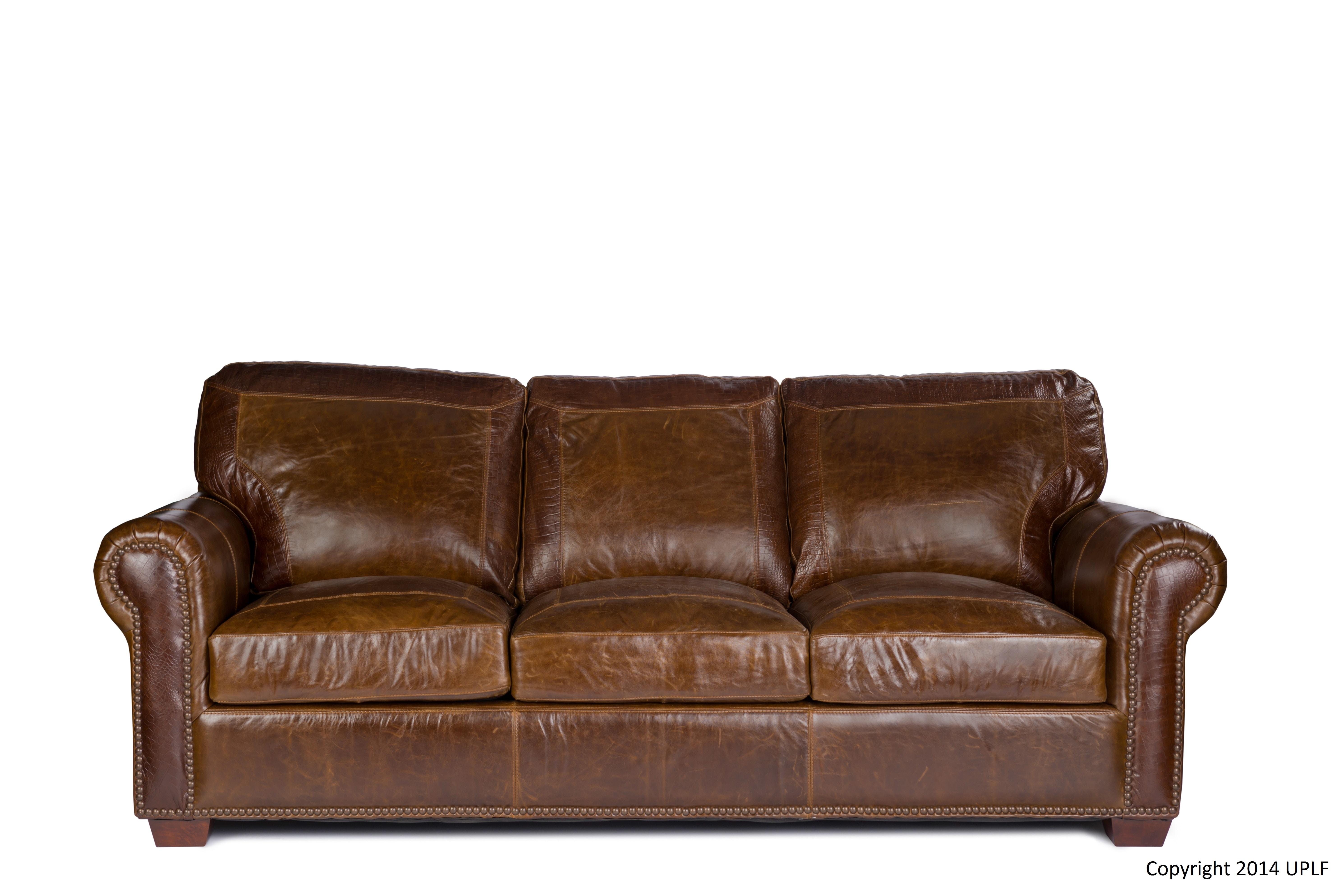 2123800. Pecan With Alligator Sofa · 2123800 · USA Premium Leather