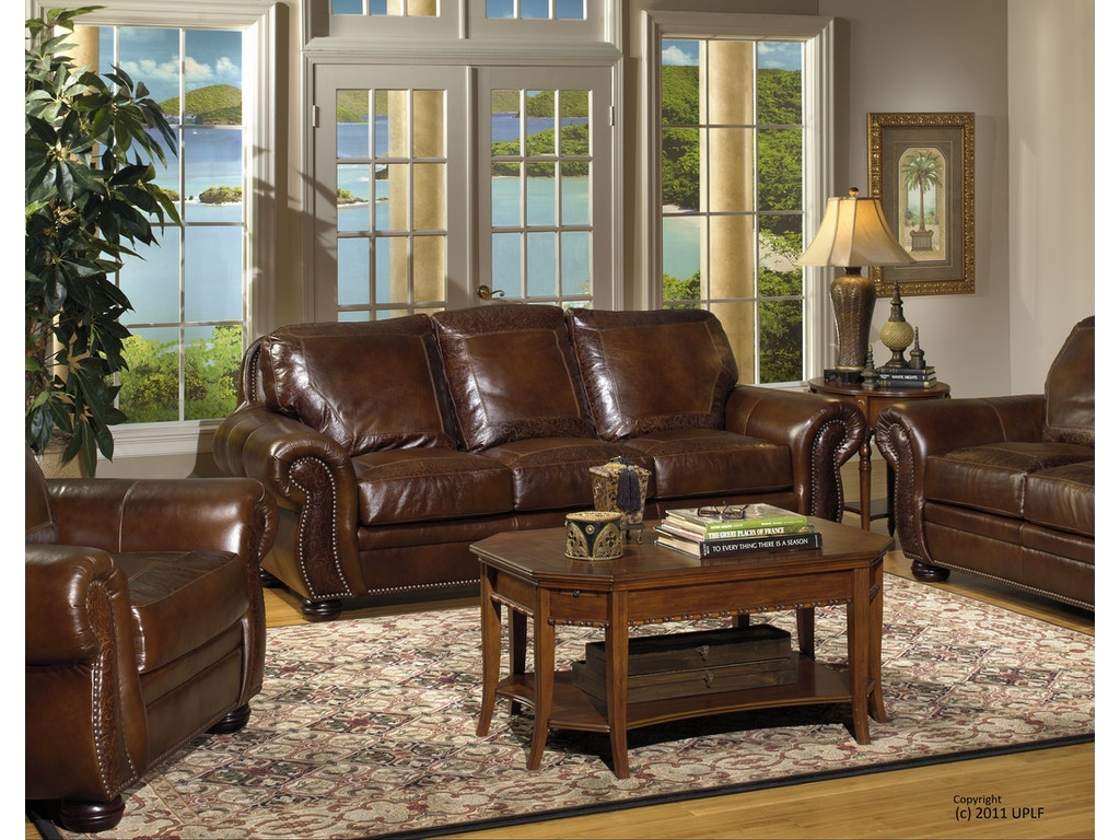 USA Premium Leather Living Room SG Oak Paisley Sofa ...