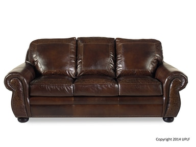 USA Premium Leather SG Oak Paisley Sofa 1705817